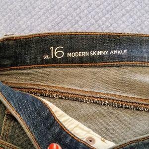 LOFT Modern Skinny Ankle Jeans size 16